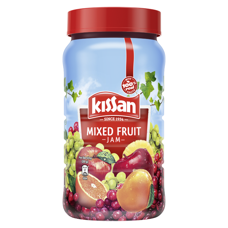 Kissan - mixed Fruit jam front